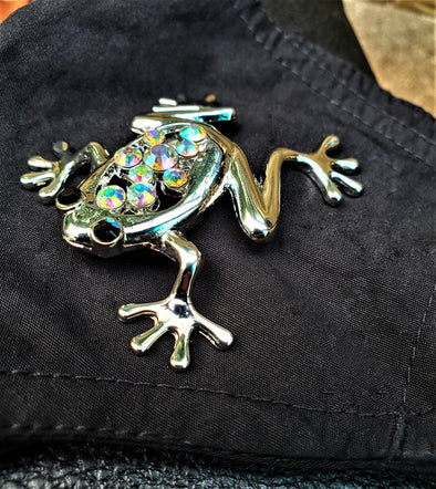 Frog Rhinestone Magnetic Brooch - QB's Magnetic Jewelry Creations