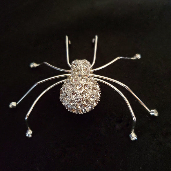 Crystal Spider Magnetic Brooch - QB's Magnetic Jewelry Creations
