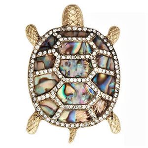 Abalone Turtle Magnetic Brooch - QB's Magnetic Creations