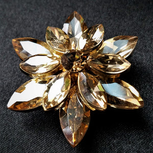 Gold Rhinestone Magnetic Brooch - QB's Magnetic Creations