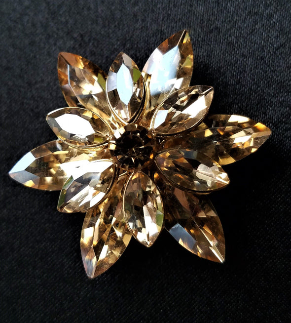 Gold Rhinestone Magnetic Brooch - QB's Magnetic Jewelry Creations