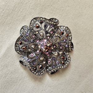 Crystal Flower Magnetic Brooch - QB's Magnetic Creations