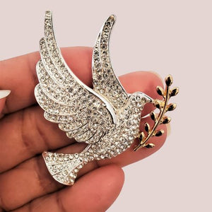 Dove Magnetic Brooch - QB's Magnetic Creations