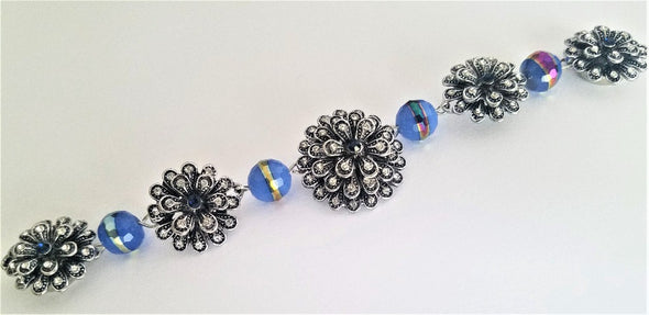 Flower & Glass Magnetic Jewelry String - QB's Magnetic Jewelry Creations