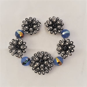 Flower & Glass Magnetic Jewelry String - QB's Magnetic Creations