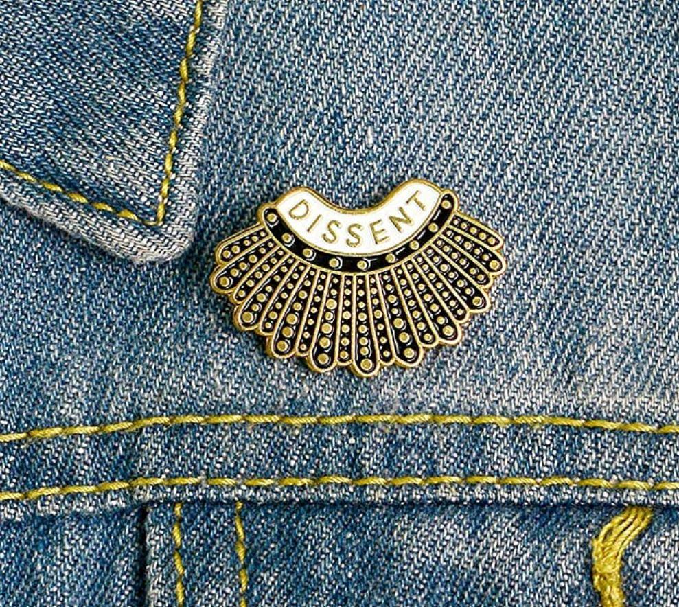 Gold Dissent Magnetic Brooch - QB's Magnetic Creations