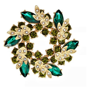 Green Cluster Magnetic Brooch - QB's Magnetic Creations