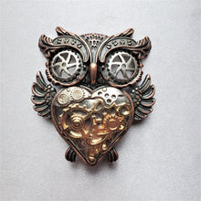 Owl Tri-Tone Magnetic Fashion Brooch - QB's Magnetic Creations