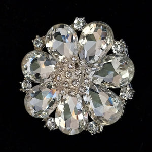 Clear Stone Magnetic Fashion Brooch - QB's Magnetic Creations