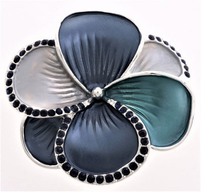 Blue Flower Magnetic Brooch - QB's Magnetic Jewelry Creations