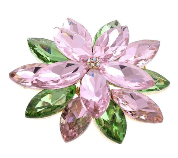 Pink Crystal Magnetic Brooch - QB's Magnetic Jewelry Creations