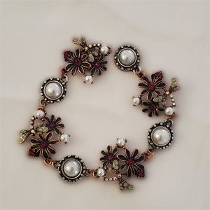 Flower & Pearl Magnetic Jewelry String - QB's Magnetic Creations