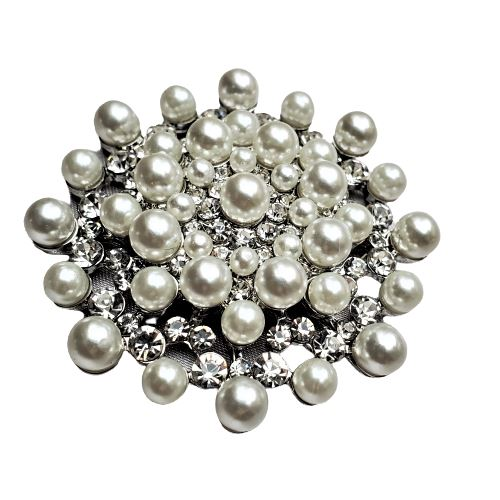 Rhinestone Pearl Magnetic Brooch - QB's Magnetic Jewelry Creations
