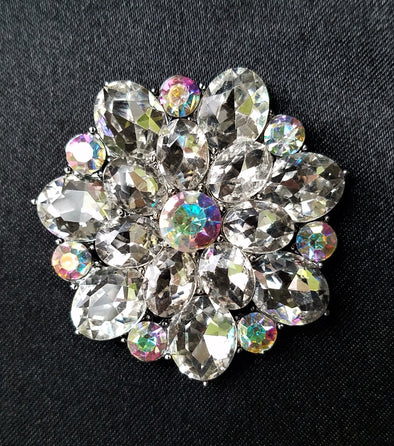 Rhinestone Flower Magnetic Brooch - QB's Magnetic Jewelry Creations