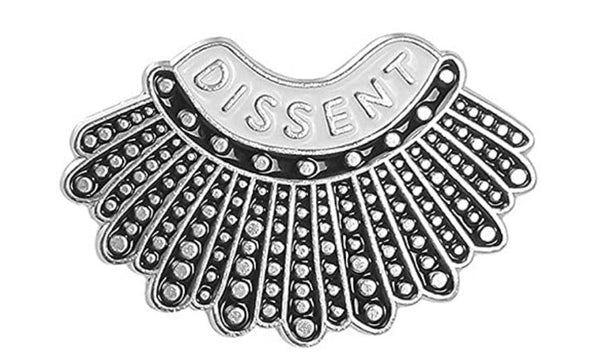 Silver Dissent Magnetic Brooch - QB's Magnetic Jewelry Creations