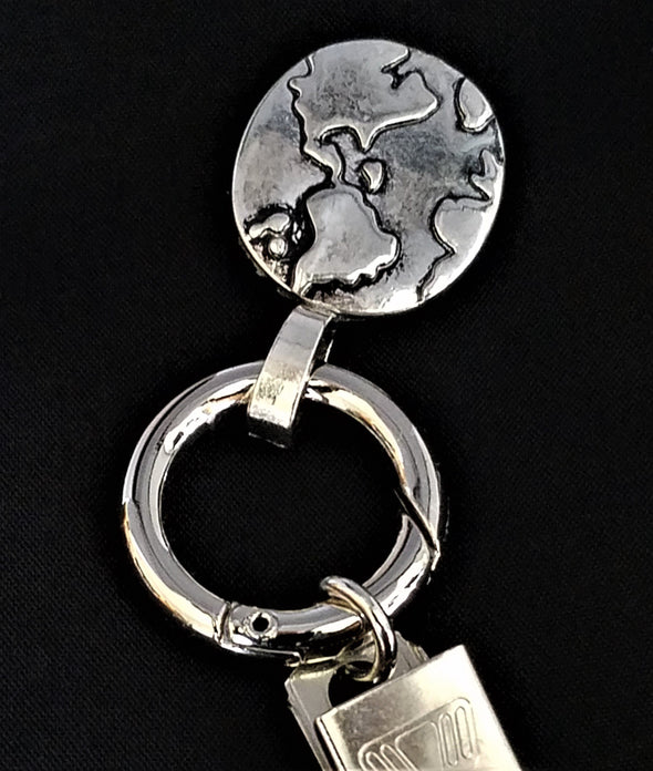 Silver Earth Magnetic Badge / Eyeglass Holder - QB's Magnetic Jewelry Creations