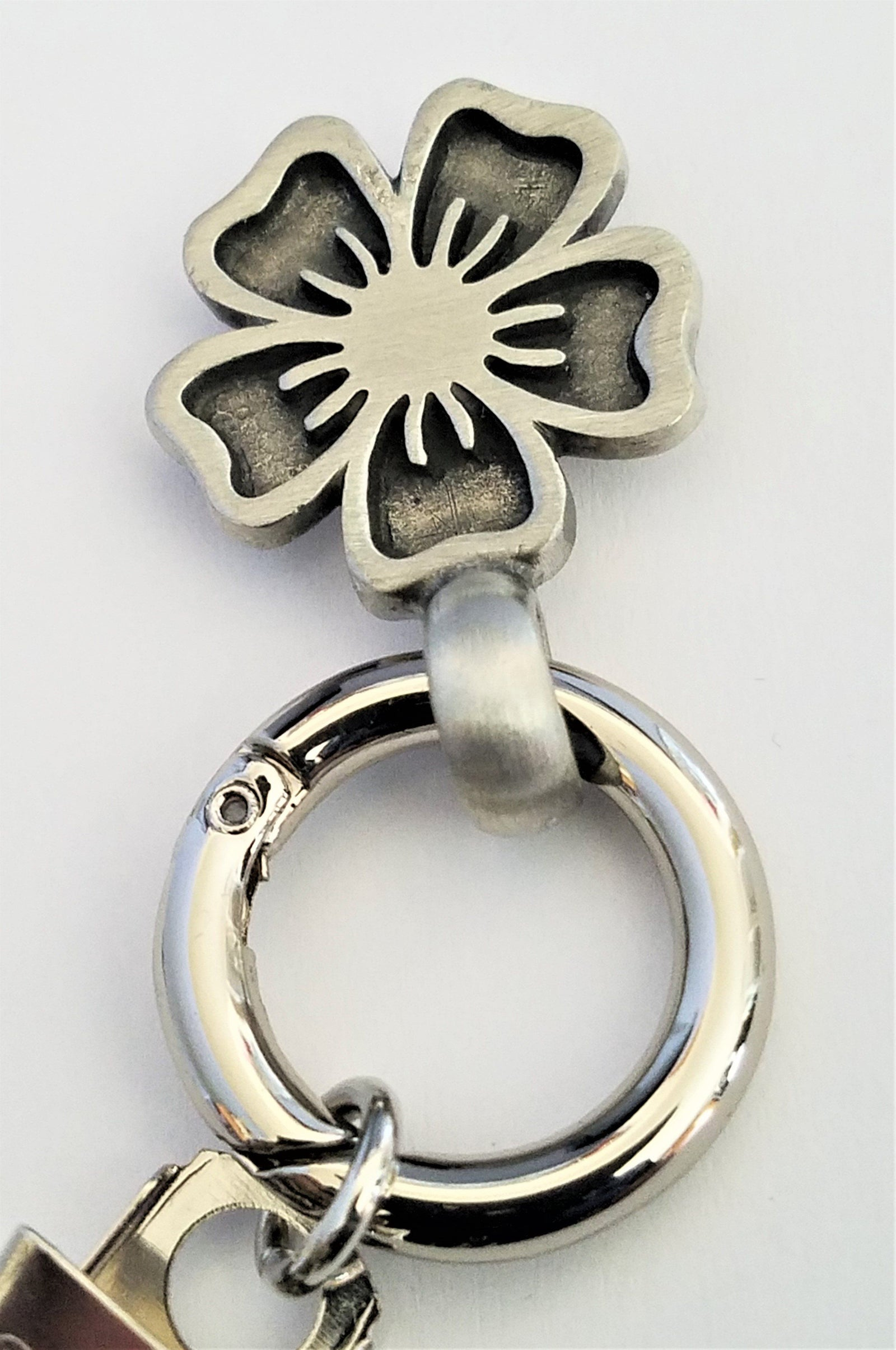 Silver Flower Magnetic Badge / Eyeglass Holder - QB's Magnetic Creations