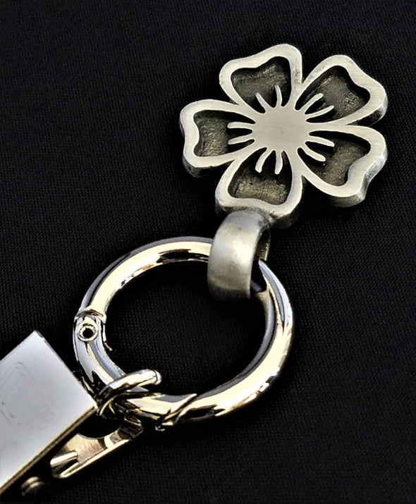 Silver Flower Magnetic Badge / Eyeglass Holder - QB's Magnetic Jewelry Creations