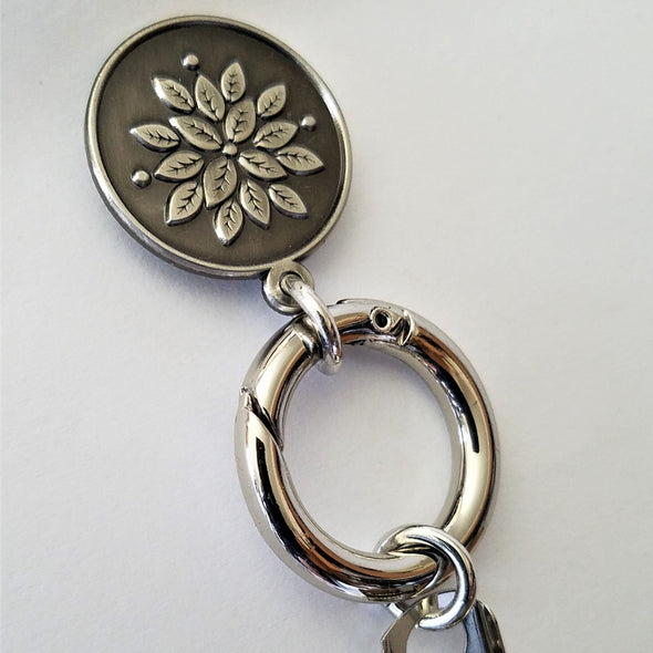 Round Flower Magnetic Badge / Eyeglass Holder - QB's Magnetic Jewelry Creations
