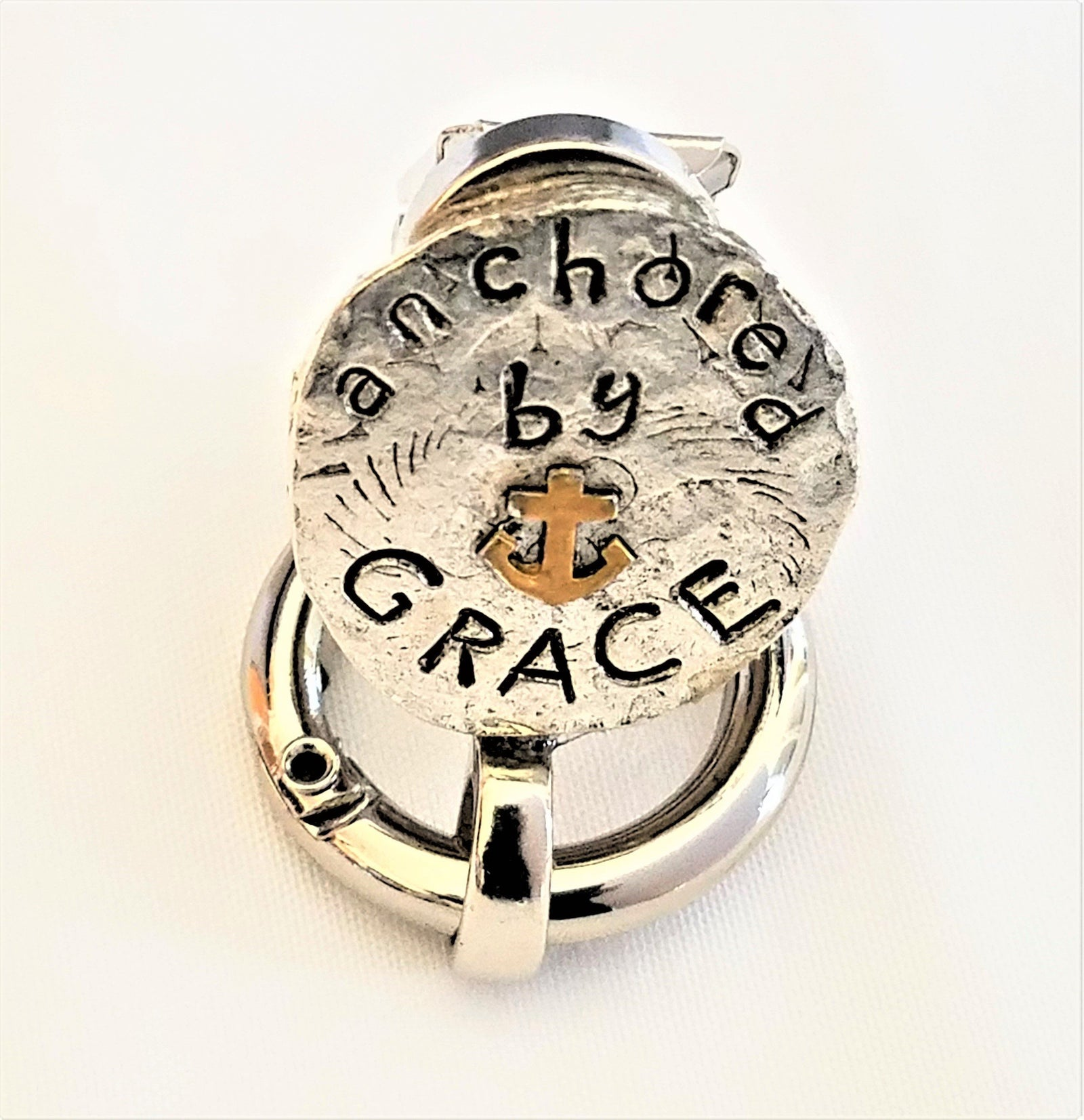 Silver Grace Magnetic Badge / Eyeglass Holder - QB's Magnetic Creations