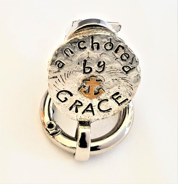 Silver Grace Magnetic Badge / Eyeglass Holder - QB's Magnetic Jewelry Creations