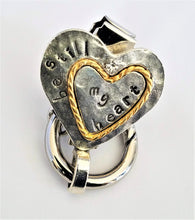 Two-Tone Heart Magnetic Badge / Eyeglass Holder - QB's Magnetic Creations