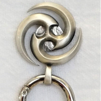 Silver Swirl Magnetic Badge / Eyeglass Holder - QB's Magnetic Jewelry Creations