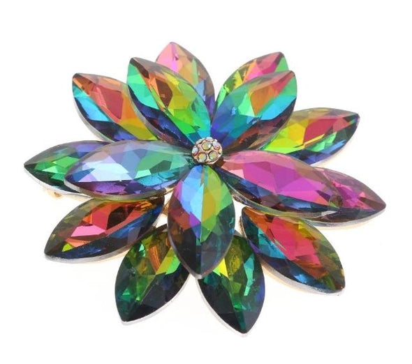 Multi-Color Crystal Magnetic Brooch - QB's Magnetic Jewelry Creations