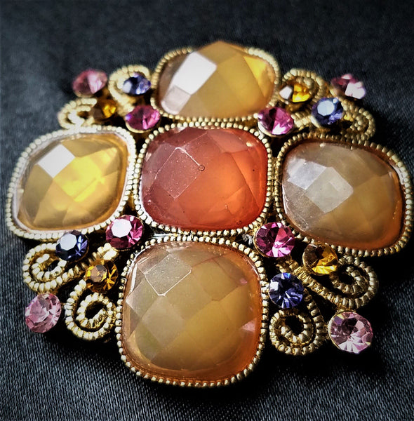 Multi-Color Vintage Magnetic Brooch - QB's Magnetic Jewelry Creations