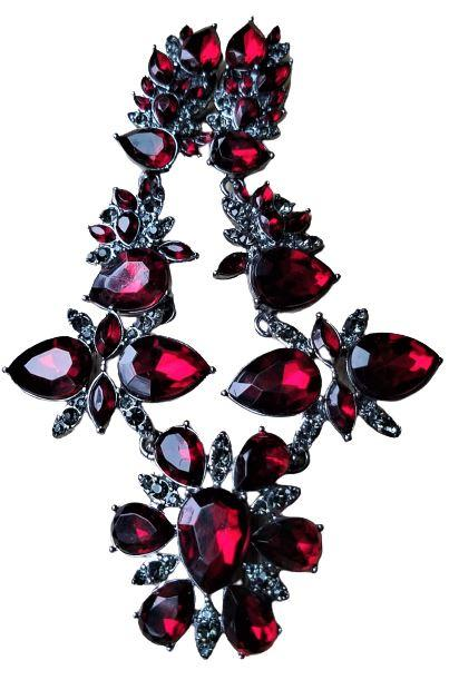 Ruby Red Rhinestone Magnetic Jewelry String - QB's Magnetic Jewelry Creations