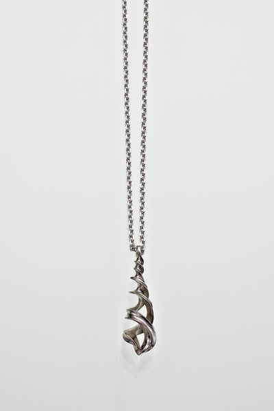 Sterling Silver Helix Design Pendant - David Smith Jewellery