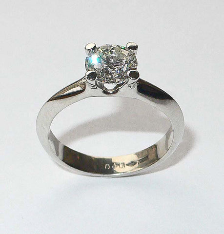 Diamond Platinum 4Claw Ring 1 Carat G Colour VS1 - David Smith Jewellery