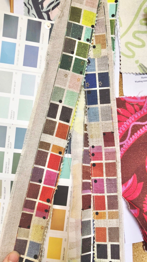 10 Holland street interior colour swatches