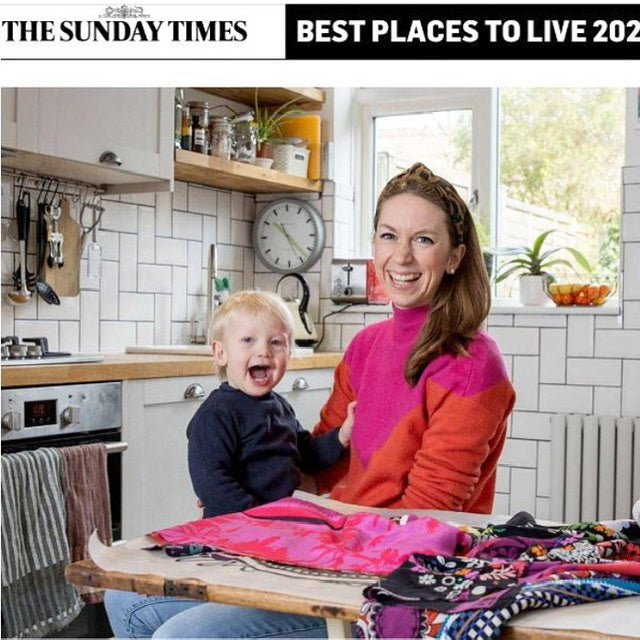 The Sunday times textile designer Lauren Barfoot from 10 Holland Street