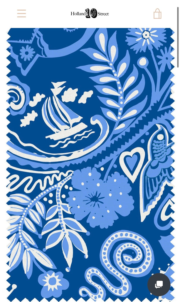 10 Holland Street midnight blue linen print Park Life