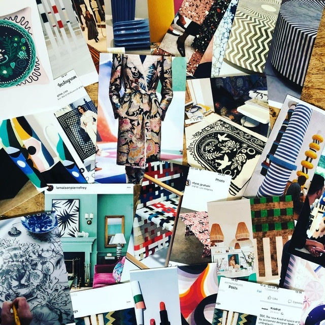10 Holland street design moodboard research textiles