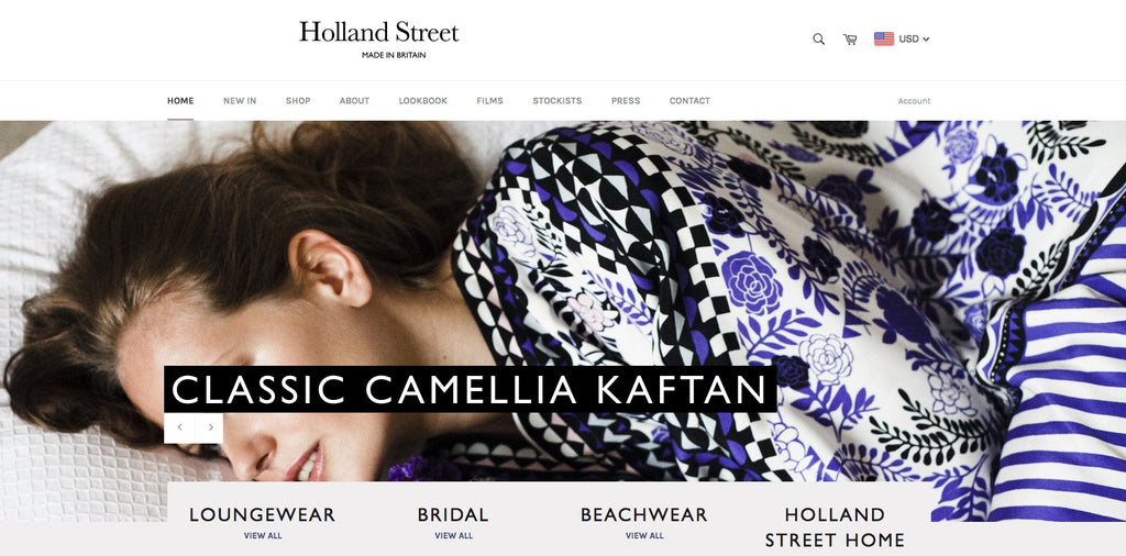 Welcome to our International site HollandStreet.co. Shop British Kaftans and Kimonos