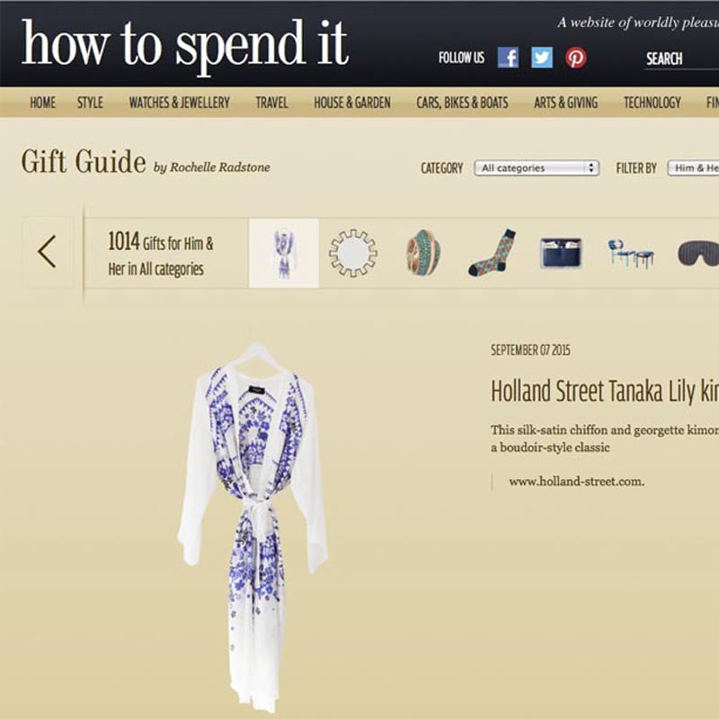 FINANCIAL TIMES 'HOW TO SPEND IT' GIFT GUIDE