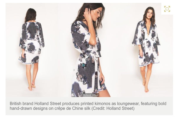 Holland Street Marchesa Kimono BBC Silk Made in Britain