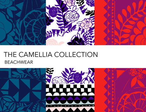 Holland Street Camellia Collection Silk robes and caftans kaftans, beachwear and loungewear