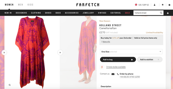 Farfetch Luxury Fashion Holland Street kaftan