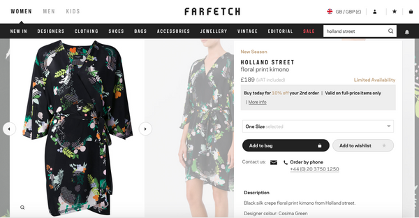 Farfetch Luxury Fashion Holland Street robe