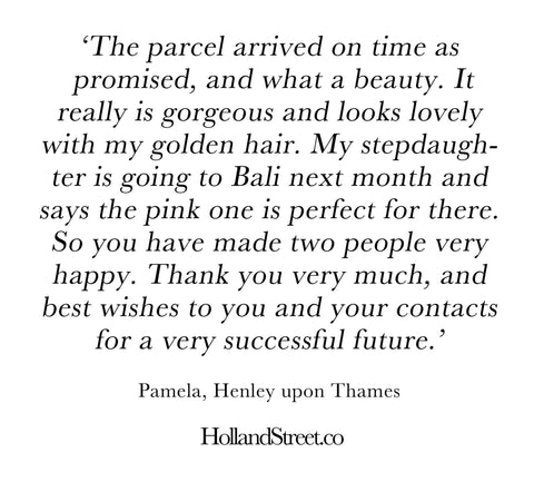 Holland Street kaftan customer review quote