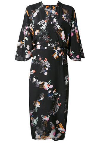 Cosima silk Dressing gown robe Holland Street London