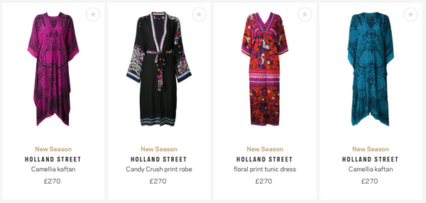 Farfetch Holland Street Silk kaftans, kimonos and robes