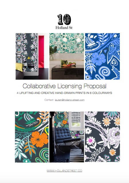 10 Holland Street Collaborative Print Licensing Proposal