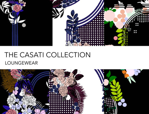 Holland Street Casati Collection Silk designer loungewear kimonos and robes