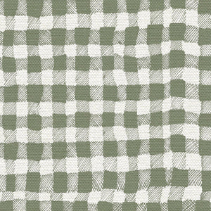 10 Holland Street Gingham Olive Green Linen Fabric interiors