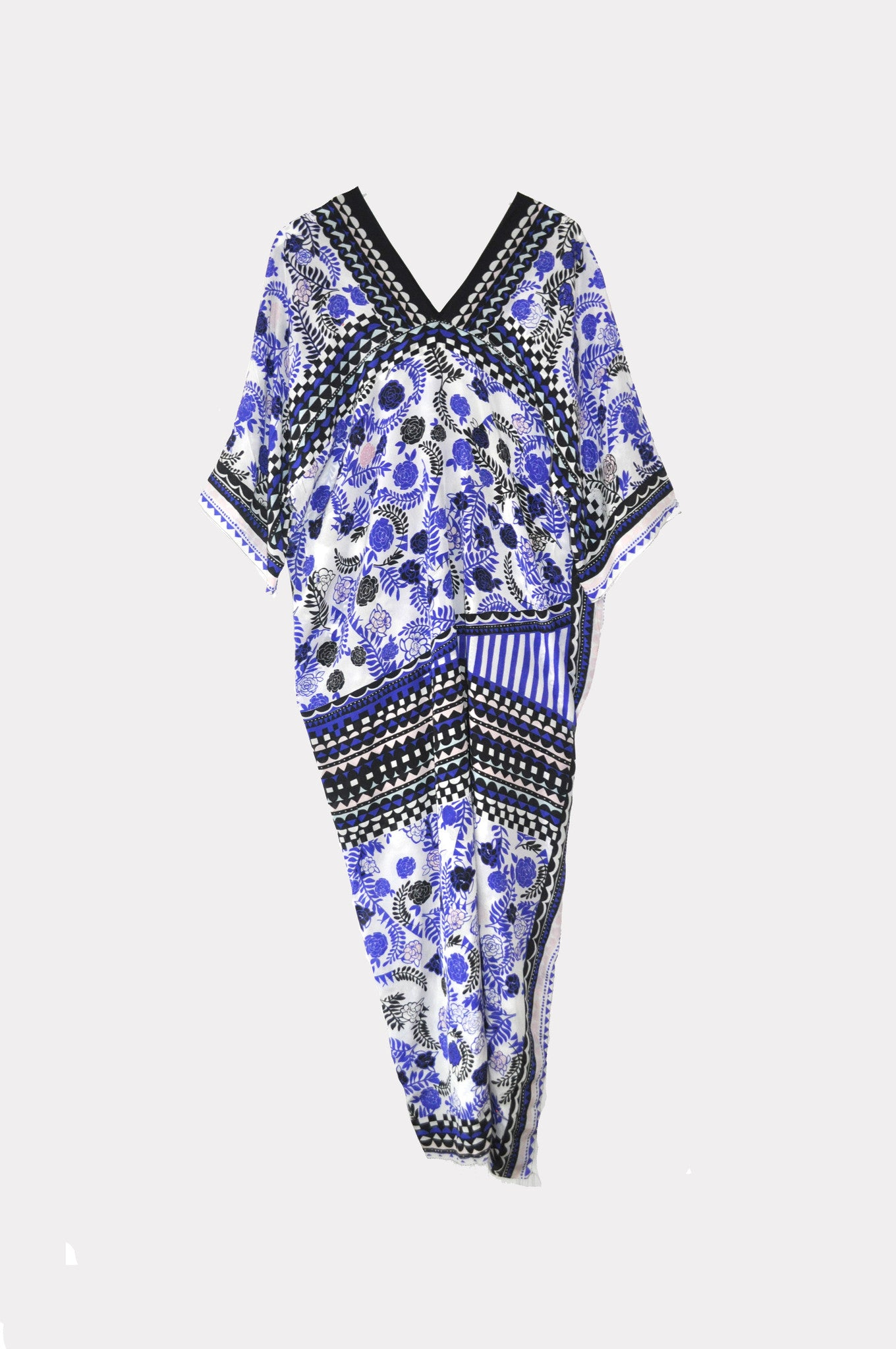 Royal Blue Camellia Kaftan Dress- Limited Edition