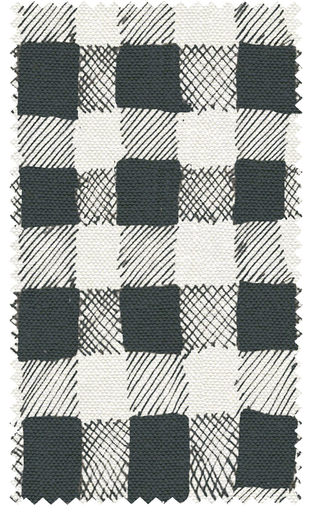 10 Holland Street Gingham Print black and white cushion linen upholstery
